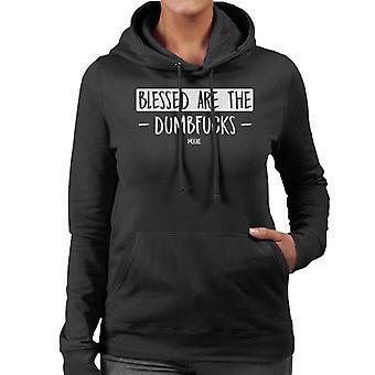 Lamb Blessed Are The Dumbfucks Quote Women's Hooded Sweatshirt