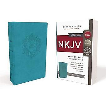 NKJV, Value Thinline Bible,� Compact, Imitation Leather,� Blue, Red Letter Edition, Comfort Print