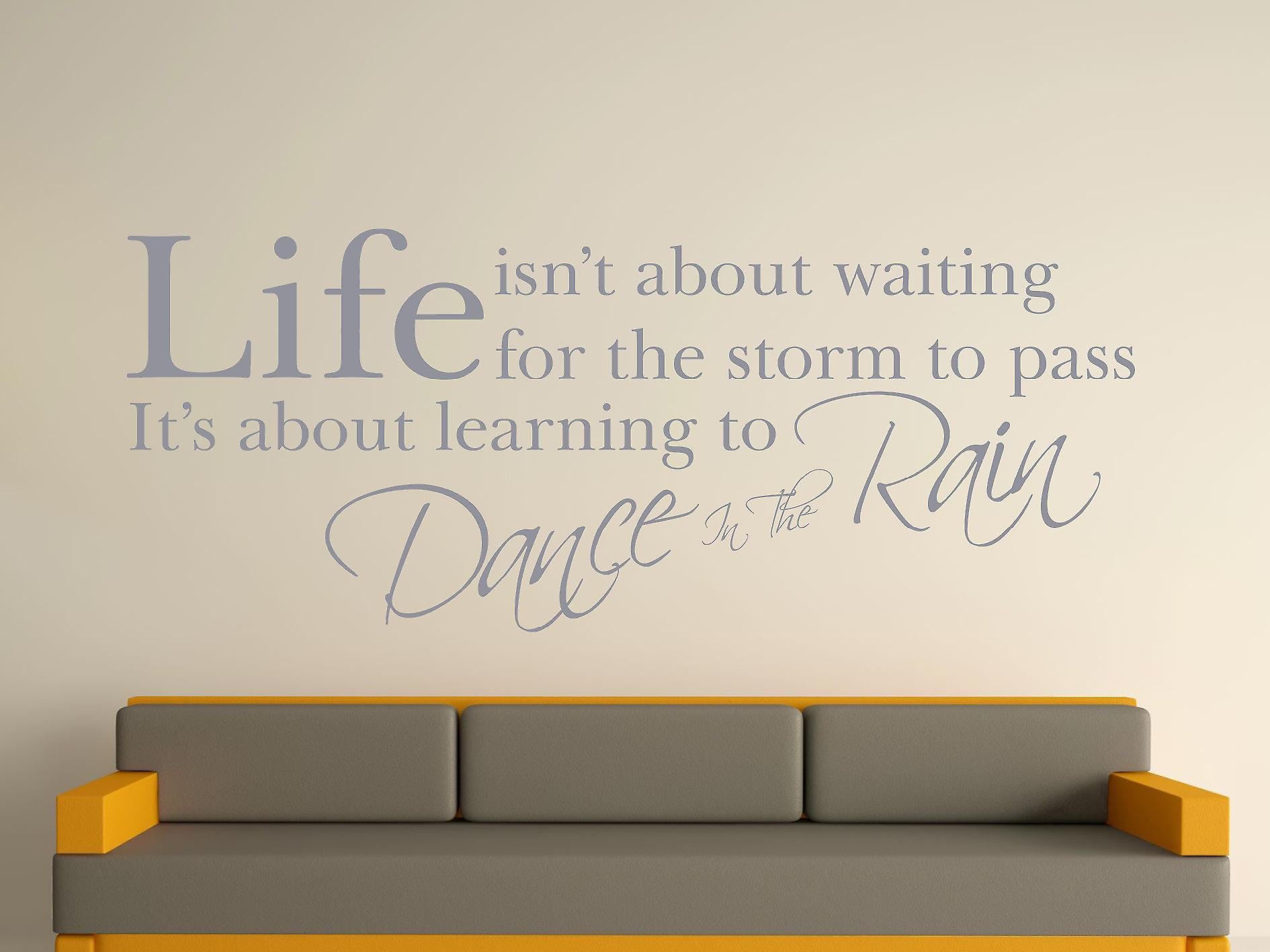 Dance In The Rain Wall Art Sticker - Silver
