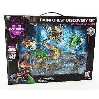 Tedco Rainforest Discovery Set, 3D Puzzle Animals