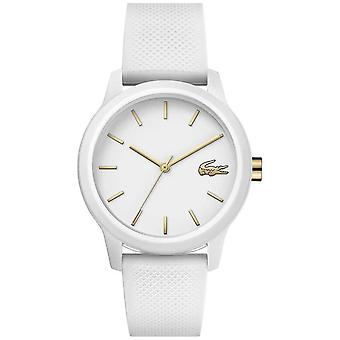 Lacoste | Womens 12-12 | White Silicone Strap | White Dial | 2001063 Watch