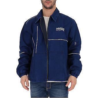 Adidas Blue Nylon Outerwear Jacket
