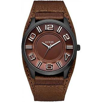 Watch Guess W14542G2 - Leather Brown man