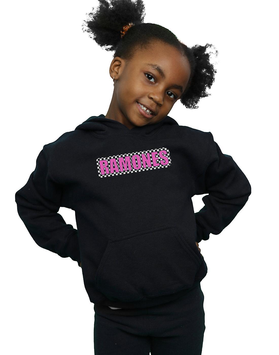 Ramones filles vérifié Logo Hoodie