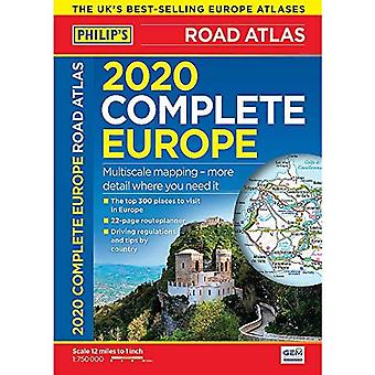Philip está completo Road Atlas Europa 2020 A4: (A4 com tampa prática 'flexi') (Philips Road Atlas)