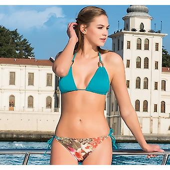 Aqua Perla - Womens -tropical- Multicolor- Bikini Top
