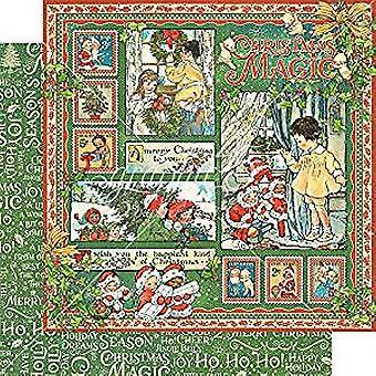 Prima Marketing jul magiska 12 x 12 Inch papper Pack (4501726)