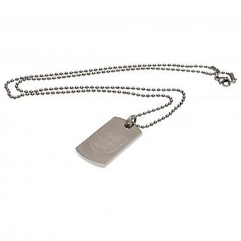 England FA Engraved Crest Dog Tag & Chain