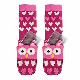Aroma Home Childrens Click & Heat Gel Cosy Socks: Owl