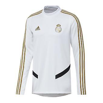 2019-2020 Real Madrid Adidas training top (wit)-Kids