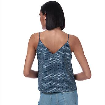 Womens Only Diana Tile Print Cami Top In Blue Horizon