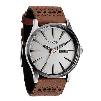 Nixon The Sentry Leather Saddle / Silver (A1051752)