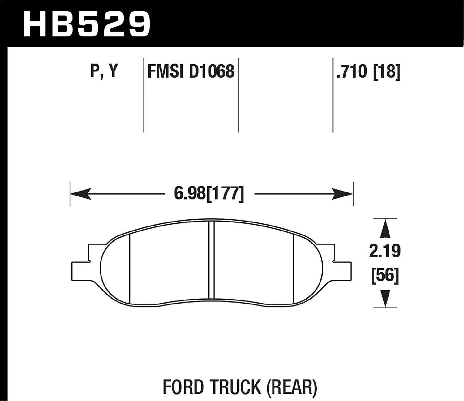 Hawk Perforhommece HB529P.710 Super Duty