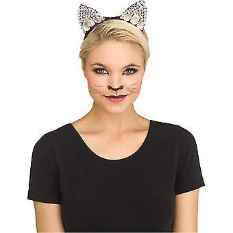 Oreja de gato con joyas negras