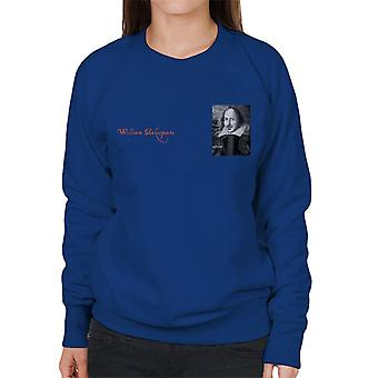 A.P.O.H William Shakespeare Black And White Portrait Women's Sweatshirt