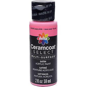 Ceramcoat Select Multi-Surface Paint 2oz-Pop Pink 4000-04003