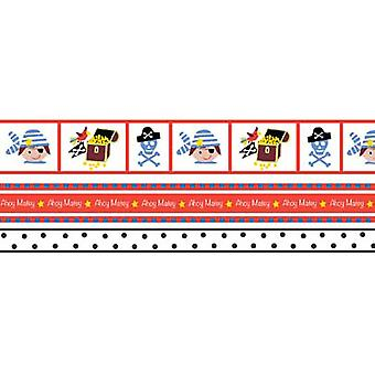 Babyville Boutique Ribbon Packs Three Sizes 6Yd Pirate 352R 26