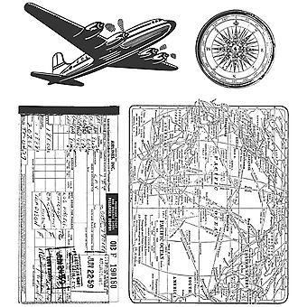 Tim Holtz Cling Rubber Stamp Set Air voyage Cms 102