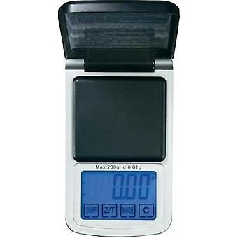 Pocket scales VOLTCRAFT PS-200HTP Weight range 200 g Readability