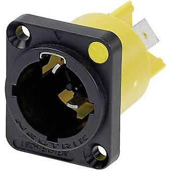 Mains connector Plug, vertical mount Total number of pins: 2 + PE 16 A Black Neutrik NAC3MPX 1 pc(s)