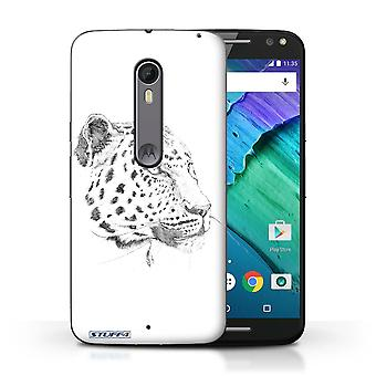 STUFF4 Case/Cover for Motorola Moto X Style/Leopard/Sketch Drawing