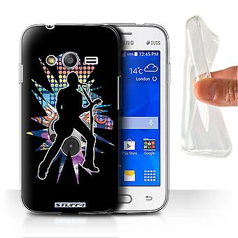 STUFF4 Gel/TPU sak/dekning for Samsung Galaxy Ace 4 Lite/G313/vokalist svart/Rock Star positur