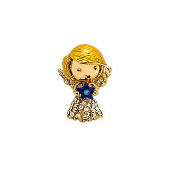 Butler & Wilson Tiny Hair Angel with Blue Star Crystal Pin