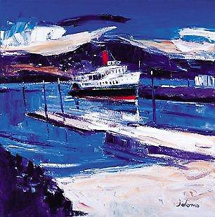John Lowrie Morrison print - The Waverley at Tighnabruaich Pier