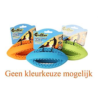 HAPPY PET GRUBBER INTERACTIEVE RUGBYBAL MINI ASSORTI 19X9X9 CM