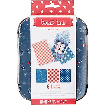 Small Americana Treat Tins 3/Pkg-4.75