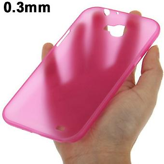 Beschermende cover case ultra dunne 0.3 mm voor mobiele Samsung Galaxy touch 2 N7100 roze transparant