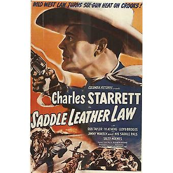 Saddle Leather Law Movie Poster Print (27 x 40)