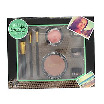 Technic Bronzing Bronze Me Collection with Eyeshadow, Bronzer, Blusher & Brushes