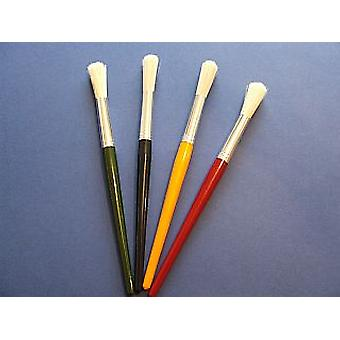4 Size 18 Chunky Hog Bristle Brushes for Arts and Crafts | Kids Paint Brushes