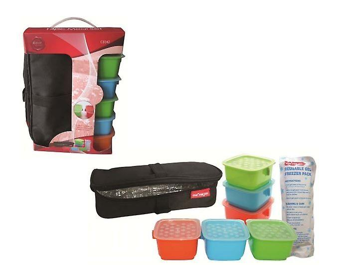 14pc Meal Set Insulated Lunch Bag For Camping Picnic Travel Work