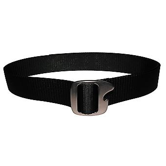 Bison design trykk Cap rødmetall spenne flaske Opener belte - svart