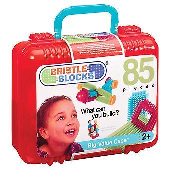 Børstehår blokke 85 stykke store værdi Case