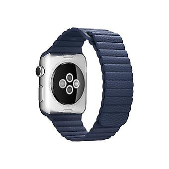 Apple 42 mm Leather Loop-medium-klockrem-Midnight Blue-Watch (42 mm)