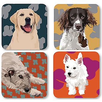 Leslie Gerry Dog Coasters, Set of 4