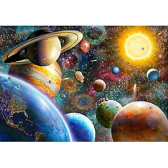 Planeter i rummet plakat Print af Adrian Chesterman