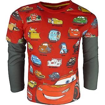 Boys Disney Cars Lightning McQueen HO1099 Long Sleeve Top