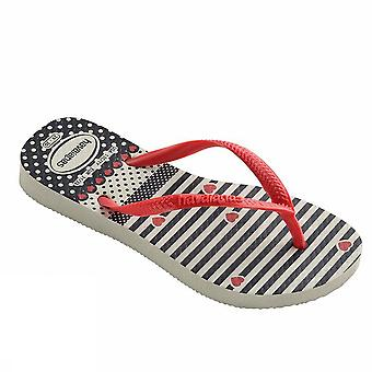 Havaianas kids slim fashion 4129934 0111Whitered young sea shoes