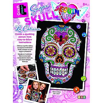 KSG Sugar Skull paillettes Art