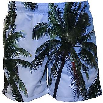 Impresión fotográfica de la playa de Palma Gant nadar cortos, topacio azul