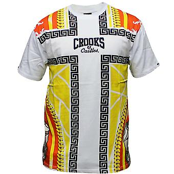 Crooks & Castles Hood Pope T-Shirt White Multi