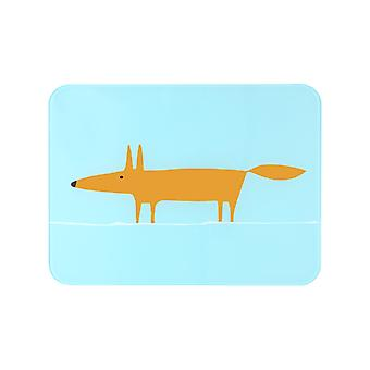 Scion Mr Fox Blue and Orange Worktop Saver 30x40cm