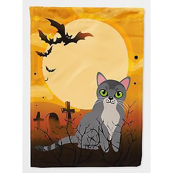 Carolines Schätze BB4439CHF Halloween asiatische Katze Flagge Haus Leinwandgröße