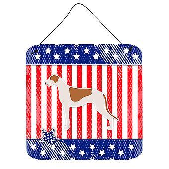 USA Patriotic Greyhound Wall or Door Hanging Prints