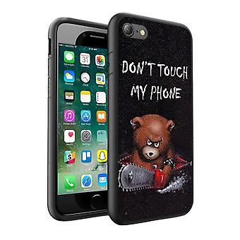 i-Tronixs Huawei Honor 8 Dont Touch My Phone Teddy Bear Design Printed Case Skin Cover - 009