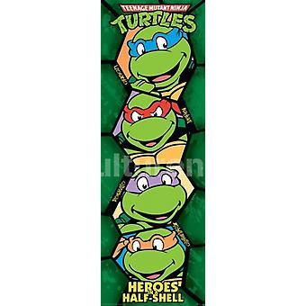 Teenage Mutant Ninja Turtles Retro Poster affisch Skriv